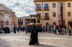 Tradycyjny Świętego tygodnia korowód w Zamora, Hiszpania Zdjęcie Royalty Free