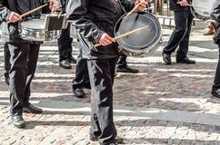 Tradycyjny Świętego tygodnia korowód w Zamora, Hiszpania Fotografia Royalty Free