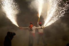 Tradycyjny świętowania Sant Pere De torellà ³ obraz stock