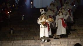 Tradycyjny świętowanie święty Lucia przed bożymi narodzeniami zdjęcie wideo
