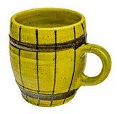 Tradycyjny żółty kawowy kubek Fotografia Royalty Free