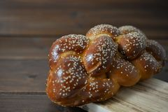 Tradycyjny Żydowski słodki Challah chleb zdjęcia royalty free