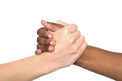 tradycyjny afrykański uścisk dłoni Zdjęcia Stock