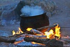 Tradycyjny afrykanin obsady żelaza garnek Zdjęcie Stock