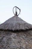 Tradycyjny afrykanin pokrywający strzechą dach, Południowa Afryka Fotografia Stock