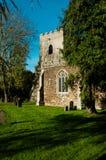 Tradycyjny Angielski kościół w jesieni Fotografia Stock