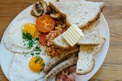 Tradycyjny Angielskiego śniadania obywatela jedzenie Sławny naczynie po całym świat fotografia stock