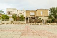 Tradycyjny antyczny budynek w piwie Izrael Stary południowy miasto w środkowym wschodzie Obraz Stock