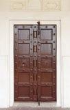 Tradycyjny antyczny drzwi wewnątrz inside galerii og Agra fort Obrazy Stock