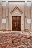 Tradycyjny Arabski hasłowy drzwi w Doha, Katar Zdjęcie Stock