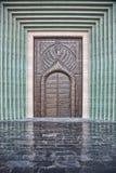 Tradycyjny Arabski hasłowy drzwi w Doha, Katar Fotografia Stock