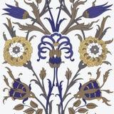 Tradycyjny Arabski ornament bezszwowy dla twój projekta Desktop tapeta Tło Iznik ilustracji