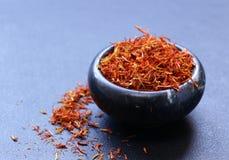 Tradycyjny aromatyczny pikantność szafran obrazy stock