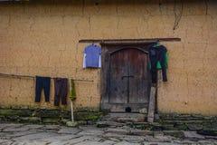 Tradycyjny błoto dom w Północnym Wietnam fotografia stock