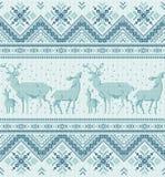 Tradycyjny Baltic, scandinavian, slavic dzianiny ludowy hafciarski ornament ilustracja wektor
