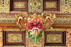 Tradycyjny Barong maskowy wzór w świątyni na Bali wyspie Zdjęcia Stock