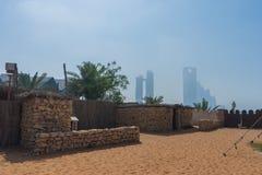 Tradycyjny beduin kamienia dom przy dziedzictwo wioską fotografia royalty free