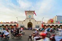 Tradycyjny Ben Thanh rynek w Ho Chi Minh mieście, Wietnam Fotografia Stock