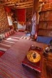Tradycyjny Berber pokój w fortecy Ait Ben Haddou Zdjęcie Royalty Free
