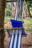 Tradycyjny biały i błękitny płótno dla odziewać być handwoven outside w Z kości słoniowej wybrzeżu, afryka zachodnia Obrazy Stock