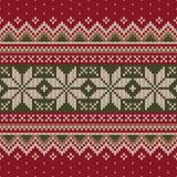 Tradycyjny Bożenarodzeniowy puloweru projekt bezszwowy wzoru Obrazy Stock