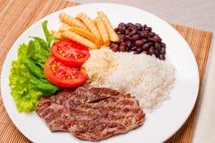 Tradycyjny Brazylijski posiłek Zdjęcia Royalty Free