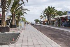 Tradycyjny budynek i ulica w Teguise Zdjęcie Royalty Free