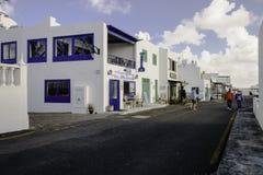 Tradycyjny budynek w Teguise Fotografia Royalty Free