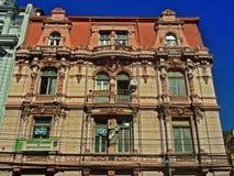 Tradycyjny budynek w Valparaiso, Chile obrazy royalty free