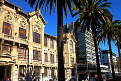 Tradycyjny budynek w Valparaiso, Chile Zdjęcia Stock