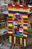 Tradycyjny bulgarian dywanik z lampasami i jaskrawymi kolorami Zdjęcia Royalty Free