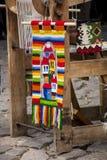 Tradycyjny bulgarian dywanik z lampasami i jaskrawymi kolorami Obrazy Royalty Free