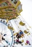 Tradycyjny Chairoplane przy Oktoberfest w Monachium Zdjęcie Royalty Free