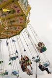 Tradycyjny Chairoplane przy Oktoberfest w Monachium Zdjęcie Stock