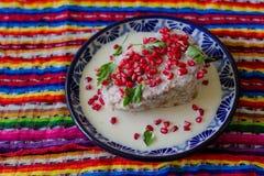 Tradycyjny Chile w nogada poblano Zdjęcie Royalty Free