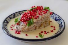 Tradycyjny Chile w nogada poblano Fotografia Royalty Free