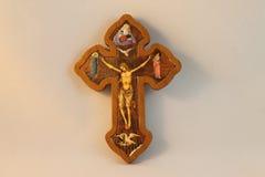 Tradycyjny Chrześcijański krucyfiks Zdjęcia Stock