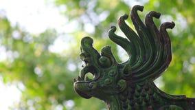 Tradycyjny dachowy eave Chińska świątynia zdjęcie wideo
