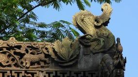 Tradycyjny dachowy eave Chi?ska ?wi?tynia zdjęcie wideo