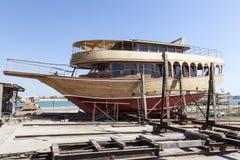 Tradycyjny Dhow Dockyard w Bahrajn Obraz Stock