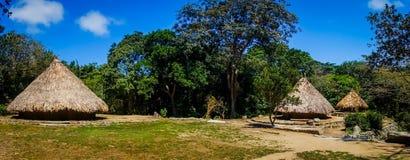 Tradycyjny dom Kogi ludzie, miejscowy Zdjęcie Royalty Free