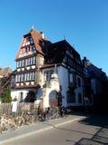 Tradycyjny dom w Alsace zdjęcia stock