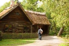 Tradycyjny dom wiejski w Szwecja Zdjęcie Stock