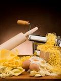 tradycyjny domowej roboty włoski makaron Zdjęcia Stock