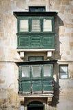 Tradycyjny domowy nadokienny architektura szczegółu los angeles Valletta stary holuje Obrazy Stock