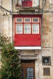 Tradycyjny domowy nadokienny architektura szczegółu los angeles Valletta stary holuje Zdjęcie Stock