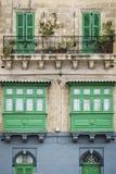 Tradycyjny domowy nadokienny architektura szczegółu los angeles Valletta stary holuje Zdjęcia Stock