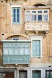 Tradycyjny domowy nadokienny architektura szczegółu los angeles Valletta stary holuje Obrazy Royalty Free