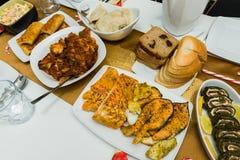 Tradycyjny domowy robić Bożenarodzeniowy jedzenie obraz stock