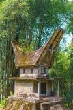 Tradycyjny doniosły budynek w Taniec Toraja, Sulawesi, Indonezja Obrazy Royalty Free